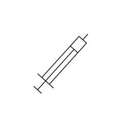 syringe icon vector image vector image