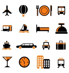 travel service icon vector image vector image