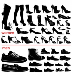 women and men shoes vector image vector image
