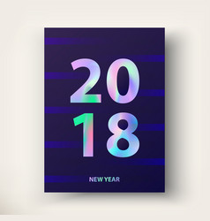 2018 new year card vector image