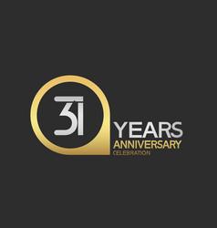 31 years anniversary celebration simple design vector