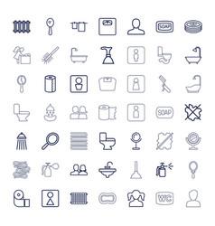 49 bathroom icons vector