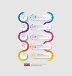 5 steps infographic timeline design template vector