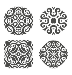 Abstract mehndi ornament vector