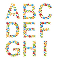 Alphabets Set letters of stylized colorful bubbles vector