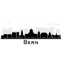 Bern switzerland city skyline with black vector