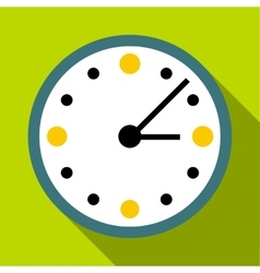 Big wall clock icon flat style vector
