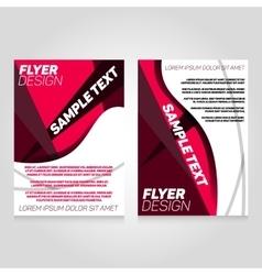 Brochure flier design template concert vector