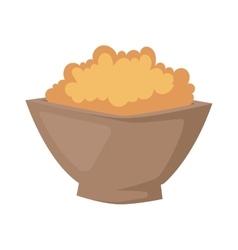 Buckwheat plate vector image