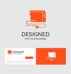 Business logo template for audio card external vector