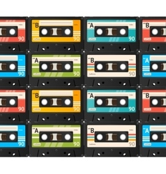Cassette Tape Background vector