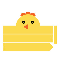 Chicken headband vector