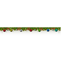 christmas and new year banner with fir-trees vector image