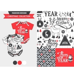 Christmas fashion design set vector
