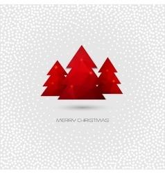 Christmas tree greeting card vector image