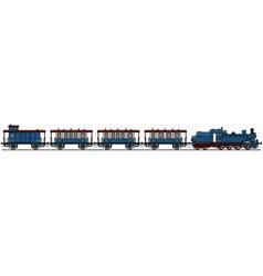 Classic blue steam train vector