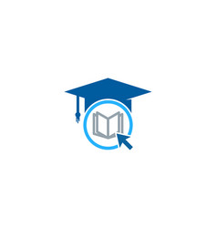click education logo icon design vector image