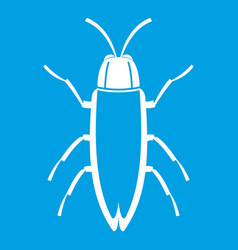Cockroach icon white vector