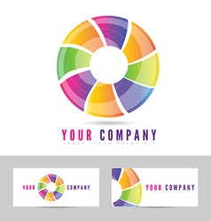 Colored business logo vector image