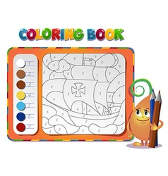 Coloring book about ship vector image