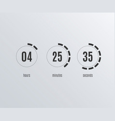 countdown web site flat template digital timer vector image