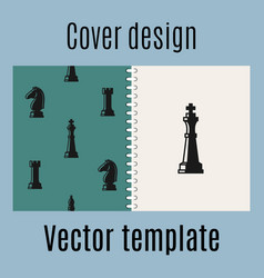 cover design with chess pattern vector image