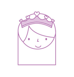 cute face little girl ballerina cartoon character vector image