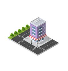 District city street vector