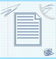 document line sketch icon isolated on white vector image