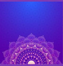 elegant purple floral mandala design vector image