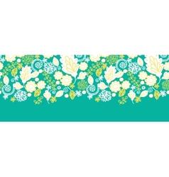 Emerald flowerals horizontal seamless pattern vector