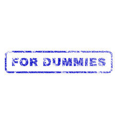 for dummies rubber stamp vector image