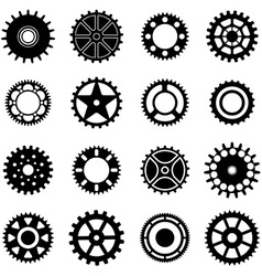 Gear wheels icons set vector image