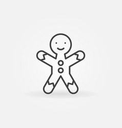 gingerbread man cookie line icon vector image