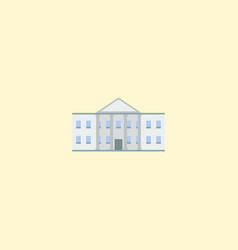 government building icon flat element vector image