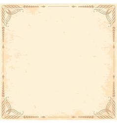 grunge background with vintage frame vector image