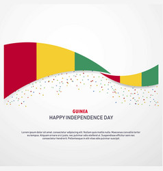 Guinea happy independence day background vector