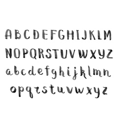 Handmade ink alphabet vector