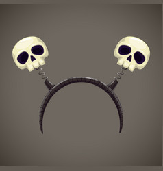 head decor with creepy skulls hair band vector image