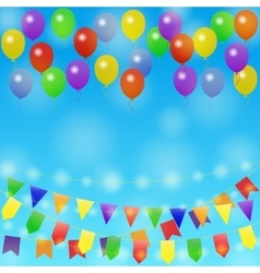 Holiday background with balloon vector image