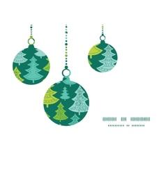 holiday christmas trees Christmas ornaments vector image