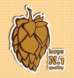 Hops Number 1 Quality Beer ingredient vector image