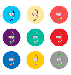 icon for set symbols mask to diving vector image