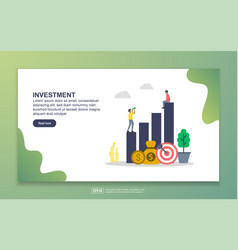 landing page template investment modern flat vector image