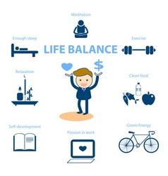 Life balance vector