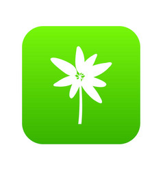 Long palm icon digital green vector