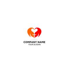 Love gospel church logo design vector