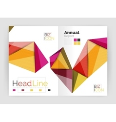 Low poly shapes design for business brochure vector