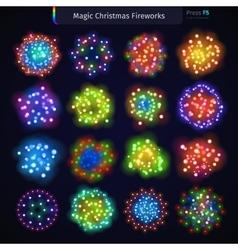 Magic Christmas Fireworks vector