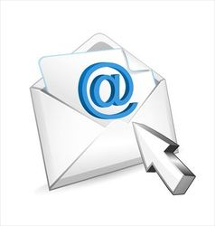 Mail with mouse cursor vector